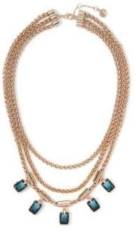 Vince Camuto Bioluminescence Fashion Crystal Three-Row Necklace