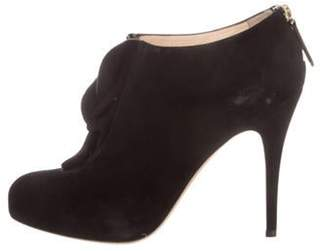 Valentino Suede Ankle Boots Black Suede Ankle Boots