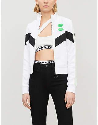 Off-White Logo-print asymmetric bikini set