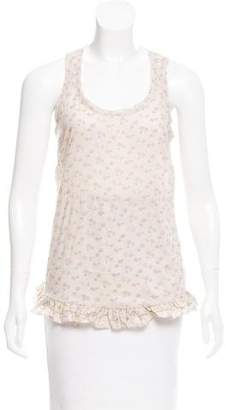 Marc by Marc Jacobs Floral Print Sleeveless Top