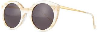 Illesteva Palm Beach Round Sunglasses, Cream $240 thestylecure.com