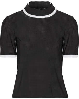 Ward Whillas - Charing Perforated Rash Guard - Black