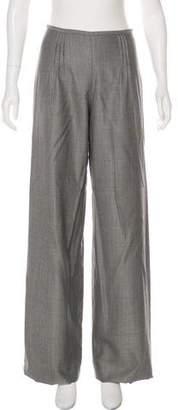 Armani Collezioni Wool & Silk-Blend Mid-Rise Pants