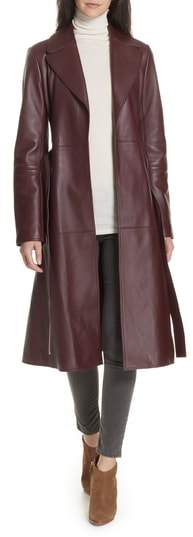 Theory Nappa Leather Trench Coat