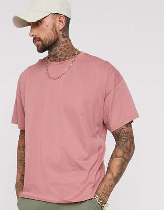 9d132d86e1 Asos Design DESIGN oversized t-shirt with crew neck in pink