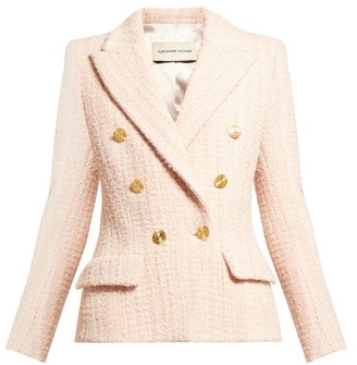 Alexandre Vauthier Double Breasted Wool Blend Tweed Jacket - Womens - Light Pink