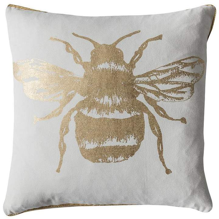 Metallic Bee Cushion