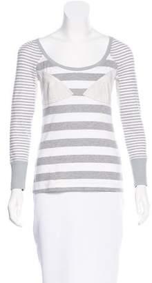 Zac Posen Z Spoke by Striped long Sleeve Top