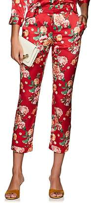 Barneys New York WOMEN'S FLORAL SILK PAJAMA PANTS