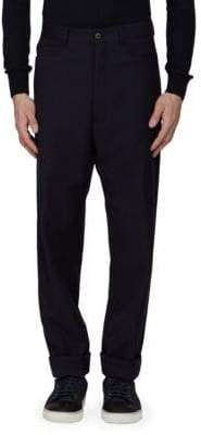 Lanvin Five-Pocket Woven Wool Pants