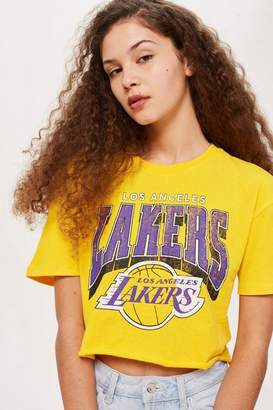 Unk x topshop Lakers crop t-shirt