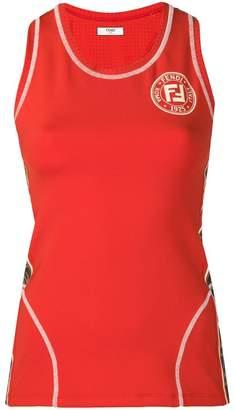 Fendi logo sports tank top