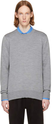 Comme des Garcons Grey Layered Open Back Sweater