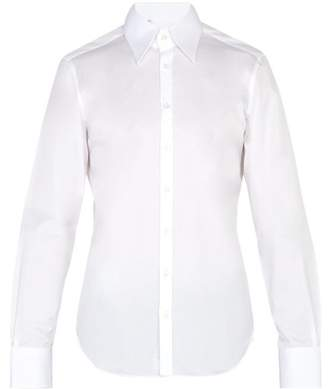 Thom Sweeney - Long Point Collar Cotton Shirt - Mens - White