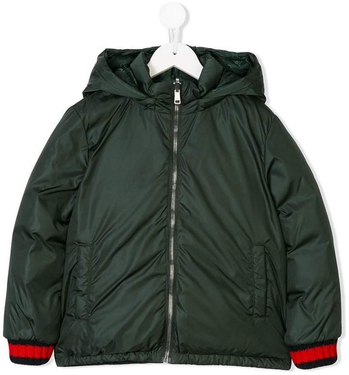 Gucci Kids padded hooded coat