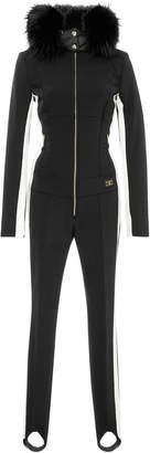 Bogner Fur-Trimmed Shell Ski Suit