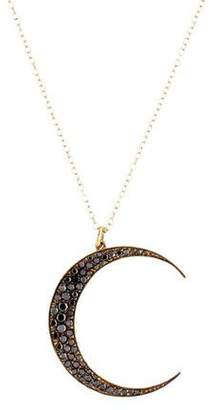 Andrea Fohrman Diamond Large Luna Pendant Necklace