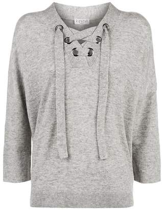 Claudie Pierlot Lace-Up Sweater