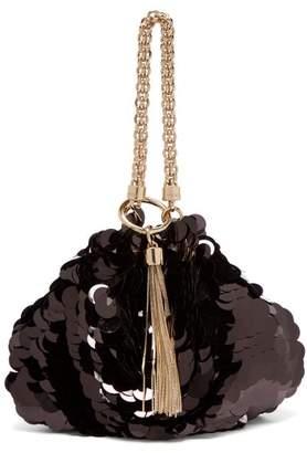 Jimmy Choo Callie Sequin Embellished Clutch Bag - Womens - Black