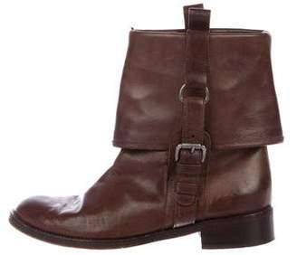 Marni Leather Fold-Over Boots