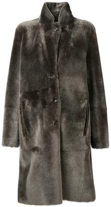 Joseph single-breasted fur coat