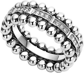 Lagos Caviar Spark Diamond Band Ring