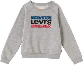 Levi's Girls Logo Sequin Sweatshirt
