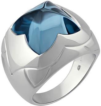 Bvlgari 18k Blue Topaz Pyramid Ring, 6.75