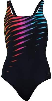 adidas Womens Graphic Swimsuit Black/Shock Pink/Equipment Yellow