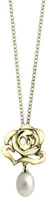 L・I・U Fei Liu Fine Jewellery Rose Pendant Necklace in 18ct Yellow Gold Plated With Fresh Water Pearl