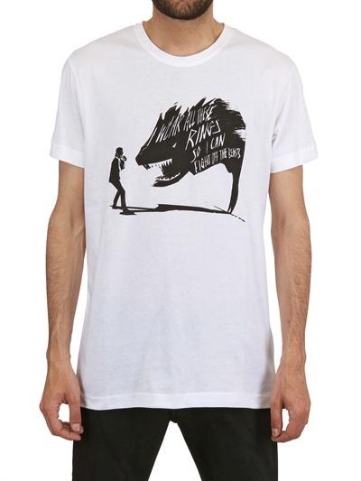 Karl Lagerfeld Printed Beast Cotton T-Shirt