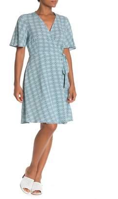 Como Vintage Short Sleeve Wrap Dress