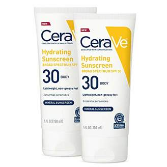 CeraVe 100% Mineral Sunscreen Spf 30 | Body Sunscreen With Zinc oxide & Titanium Dioxide for Sensitive Skin | 5 Oz
