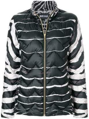 Just Cavalli (ジャスト カヴァリ) - Just Cavalli zebra print puffer jacket