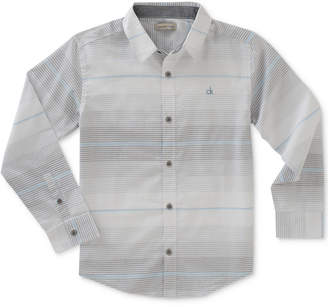 Calvin Klein Horizontal Stripe Shirt, Big Boys