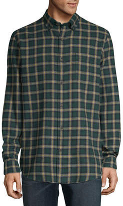 ST. JOHN'S BAY Super Soft Mens Long Sleeve Flannel Shirt