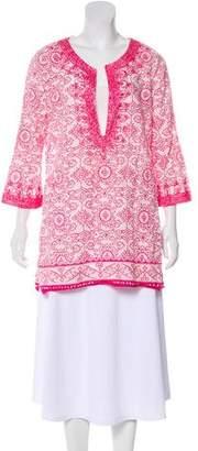 Calypso Printed Long Sleeve Top