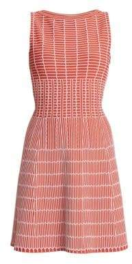 Alaia Pagode Stretch Knit Back Cutout Dress
