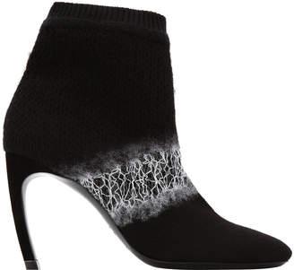 Nicholas Kirkwood Kim Ombre Felt Curve-Heel Ankle Boots