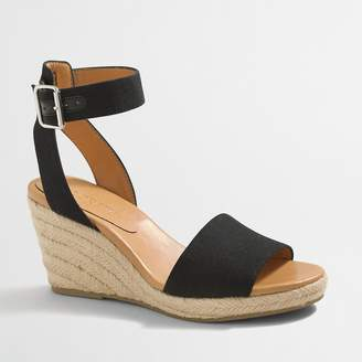 86080dd3be2fce J.Crew Strappy canvas espadrille wedges