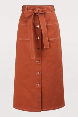59a0883f5 See by Chloe Buttoned midi skirt