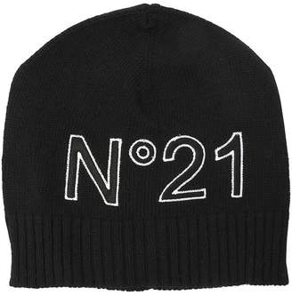 N°21 Embroidered Logo Wool Blend Hat