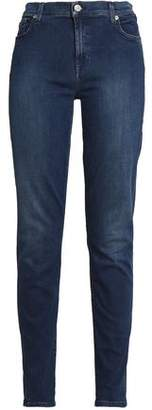 7 For All Mankind Faded High-Rise Skinny Jeans