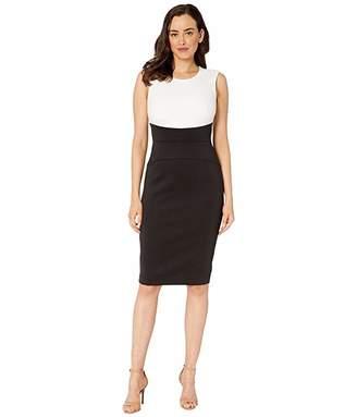 Calvin Klein Color Block Sheath Dress