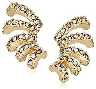 Laundry by Shelli Segal Pave Crystal Multi-Hoop Huggie Stud Earrings