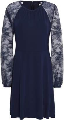 MICHAEL Michael Kors Chantilly Lace-paneled Stretch-jersey Mini Dress