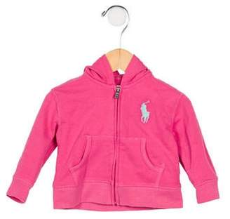 Ralph Lauren Girls' Hooded Knit Sweatshirt