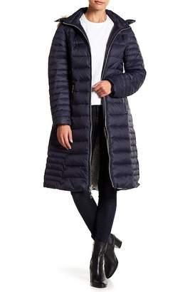 Kate Spade Faux Fur Trim Down Jacket