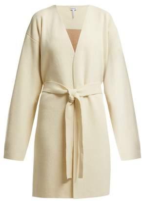Loewe Belted Wool Blend Cardigan - Womens - Ivory Multi