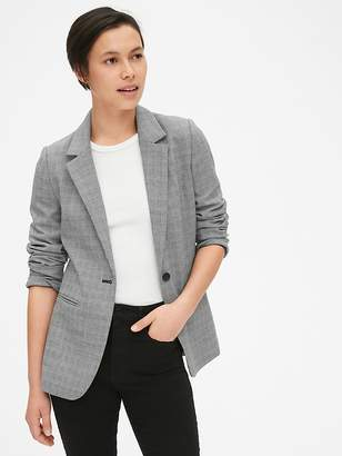 Gap Classic Plaid Blazer